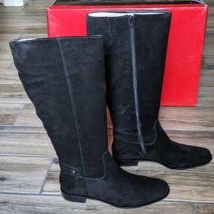 NIB Talbot's Black Suede Riding Boots sz. 9.5W
